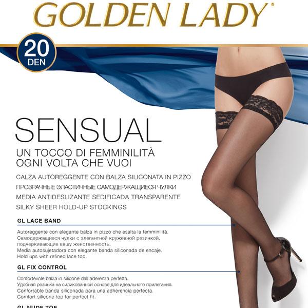 af094b295 Италианско Бельо - Силиконови чорапи Golden Lady Sensual 20 ДЕН